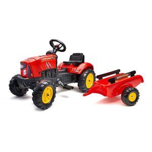 Ovaj prekrasan traktor Falk Supercharger u crvenoj boji izgleda točno poput pravih traktora. U prtljažniku se može nositi sve – od igračaka do pijeska i sijena, a u slučaju kvara motora hauba se čak može i otvoriti! Plastični kotači su vrlo izdržljivi, a prikolicu je vrlo lako povezati i odspojiti. Traktor Falk pogodan je za djecu od 2 godine, s maksimalnom težinom od 30 kilograma. Toot toot, javite svima da dolazite iza ugla!