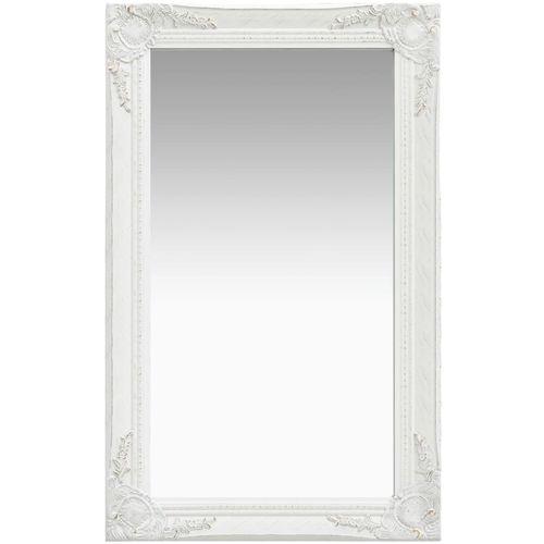 Zidno ogledalo u baroknom stilu 50 x 80 cm bijelo slika 1