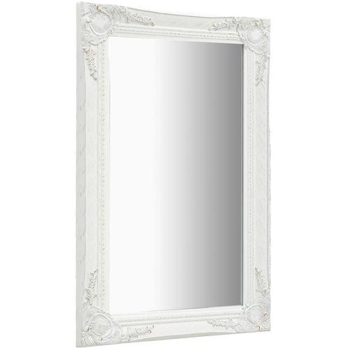 Zidno ogledalo u baroknom stilu 50 x 80 cm bijelo slika 3