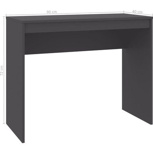 Radni stol sivi 90 x 40 x 72 cm od iverice slika 12