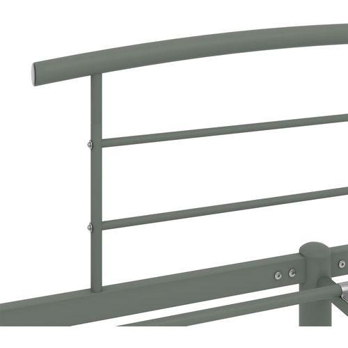 Okvir za krevet sivi metalni 140 x 200 cm slika 5