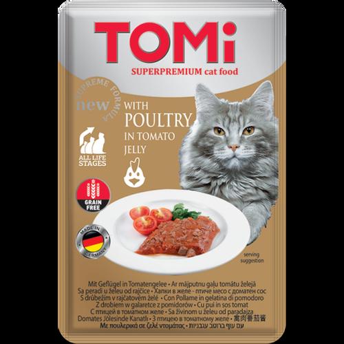 Tomi Hrana za mačke ALU vrećica Perad u želeu od rajčice 100g slika 1