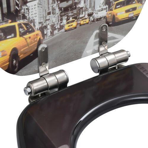 Toaletna daska s mekim zatvaranjem 2 kom MDF uzorak New Yorka slika 7