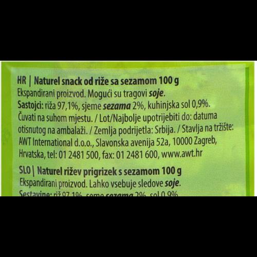 Naturel Rice Snack / Sezam 100g slika 3