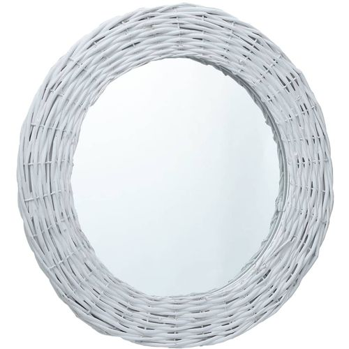 Ogledalo od pruća 60 cm bijelo slika 5
