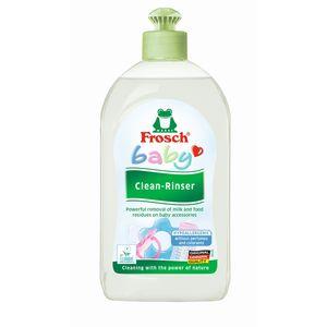 Frosch deterdžent za ručno pranje suđa za bebe    Frosch Baby deterdžent za dude i flašice Nježno i temeljito uklanja ostatke mlijeka, sokova, i ostataka hrane sa dječjeg posuđa kao što su flašice za bebe, pribor, dude, igračke koje se mogu prati, itd.