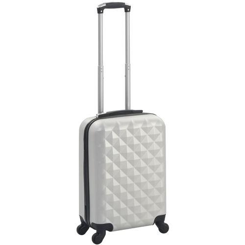 Čvrsti kovčeg s kotačima žarko srebrni ABS slika 8