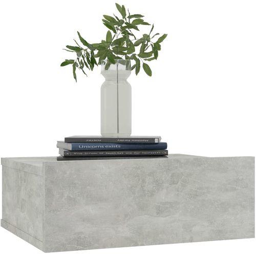 Viseći noćni ormarići 2 kom boja betona 40x30x15 cm od iverice slika 15