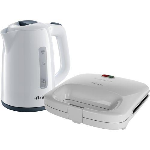 Ariete set bijeli preklopni toster i kuhalo vode slika 1