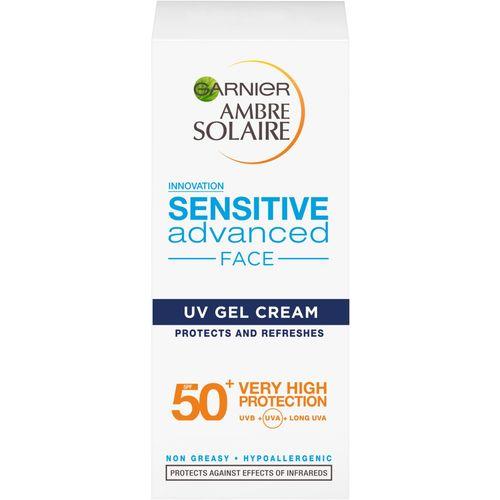 Garnier Ambre Solaire Sensitive Advanced SPF50 gel-krema za zaštitu od sunca za lice i dekolte 50ml slika 2