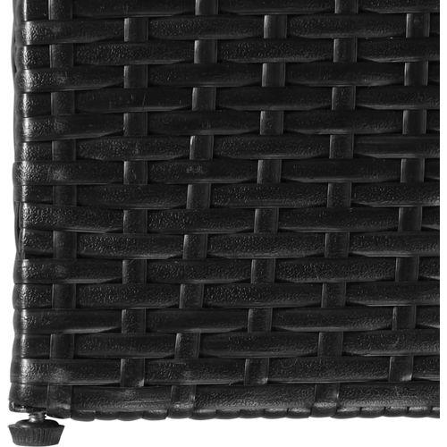 Vrtna kutija za pohranu od poliratana crna 150 x 100 x 100 cm slika 3