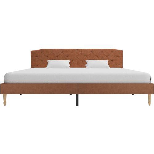 Krevet od tkanine s memorijskim madracem smeđi 180 x 200 cm slika 5