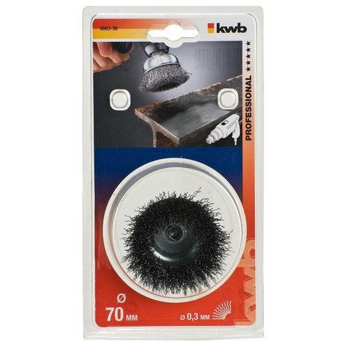 KWB Lončasta četka za bušilicu 75x0,3 mm, HSS čelične uvijene žice slika 1