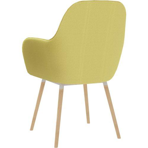 Blagovaonske stolice s naslonima za ruke 2 kom zelene tkanina slika 5
