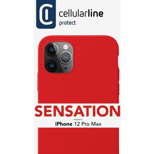 Cellularline Sensation silikonska maskica za iPhone 12 Pro Max crvena slika 3