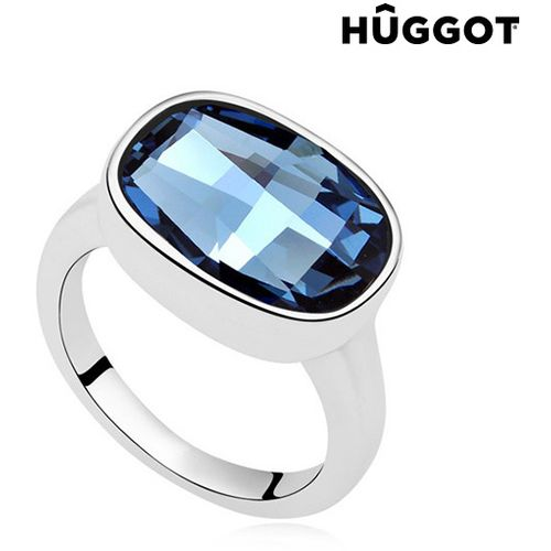 Prsten Presvučen Rodijem I'm Blue Hûggot Kreiran s Kristalima Swarovski® slika 1