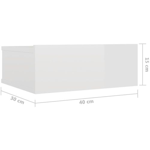 Viseći noćni ormarići 2 kom sjajni bijeli 40x30x15 cm iverica slika 25