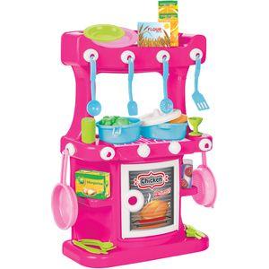 Kuhinja za djecu od kvalitetne i izdržljive plastike.  Moderan izgled i ergonomski dizajn krase ovu kuhinjicu. Kod djece utječe na socijalizaciju i motorički razvoj, a svojim, bogatim, sadržajem, izvor je dugoročne zabave i igre, a samim time razvija kreativnost i maštu.  Dimenzije sklopljene kuhinje su: 38 x 18,5 x 57 cm  Dob: 3+