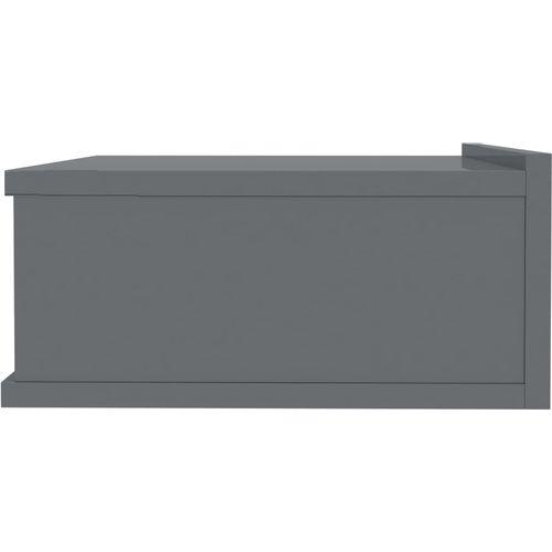 Viseći noćni ormarići 2 kom sjajni sivi 40x30x15 cm od iverice slika 5