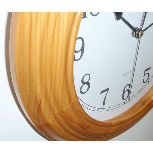 Zidni quartz sat 7109S - puno drvo slika 2