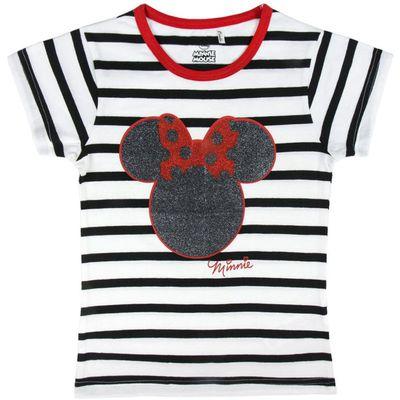 Prekrasna majica na prugice s likom mišice Minnie Mouse oduševit će svaku djevojčicu i osigurati da je u trendu. Sastav: 100% pamuk