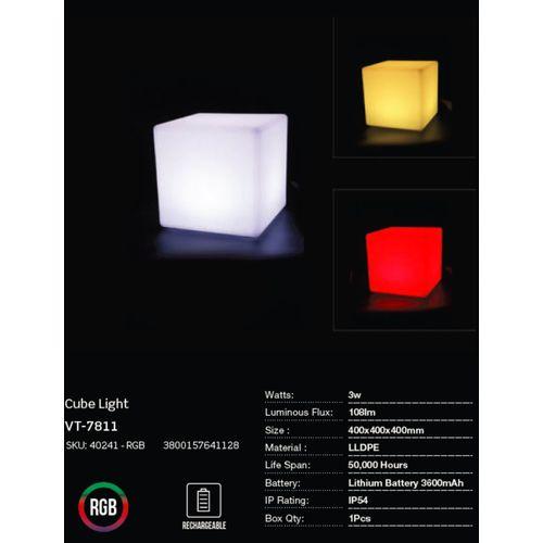 LED bežična punjiva rasvjeta — CUBE slika 3