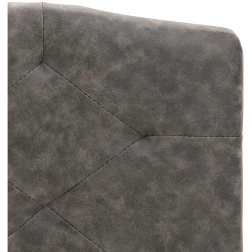 Krevet od tkanine s memorijskim madracem tamnosivi 160 x 200 cm slika 8