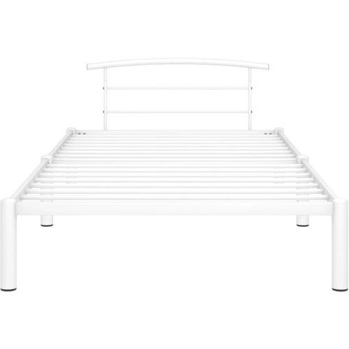 Okvir za krevet bijeli metalni 100 x 200 cm slika 3
