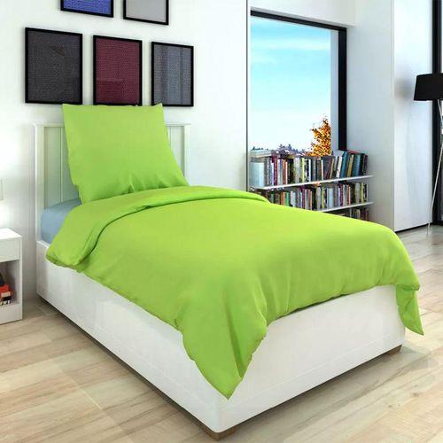 Dvodijelna Posteljna Garnitura Pamuk Zelena boja 135x200/60x70 cm slika 3