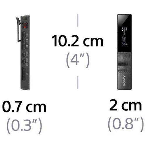 Digitalni diktafon Sony ICD-TX650 Vrijeme snimanja (maks.) 159 h Crna Utišavanje buke, Uklj. torbica, Uklj. stereo slušalice slika 4