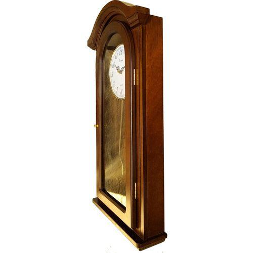 Zidni quartz sat sa klatnom 9233- puno drvo slika 3