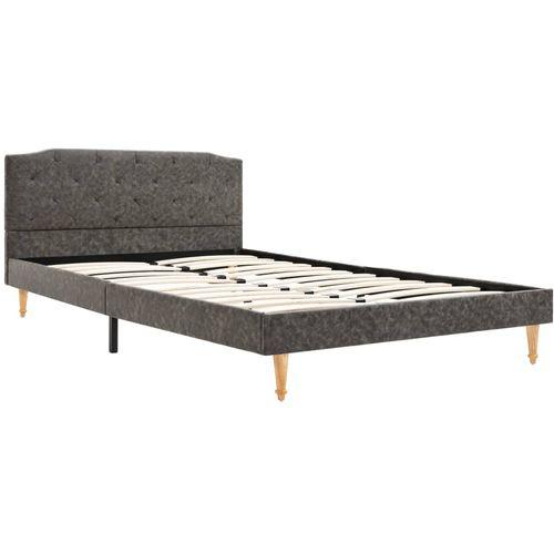 Krevet od tkanine s memorijskim madracem tamnosivi 120 x 200 cm slika 7