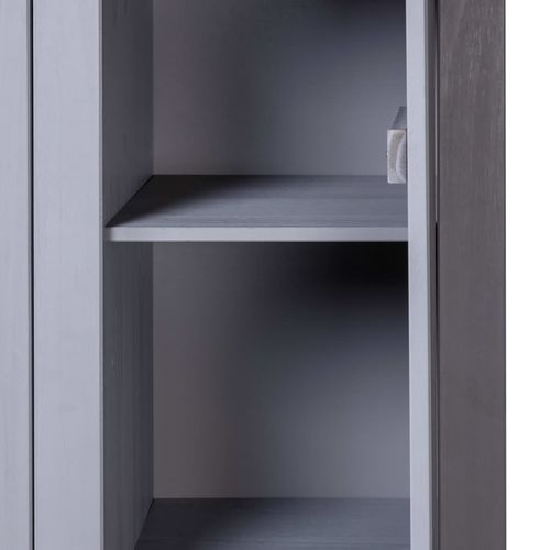 Ormar od borovine 3 vrata sivi 118x50x171,5 cm asortiman Panama slika 6