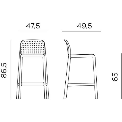 Dizajnerske barske stolice — GALIOTTO F • 2 kom. slika 4