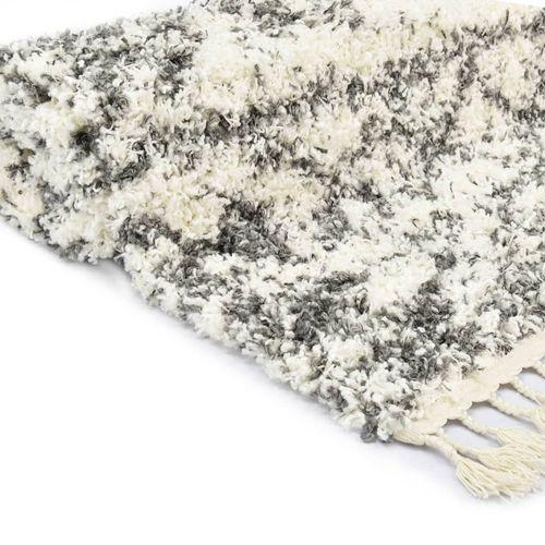 Čupavi berberski tepih PP bež i boja pijeska 120 x 170 cm slika 4