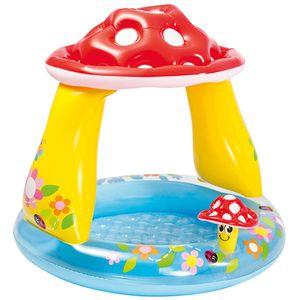 Ovaj bazen u obliku gljive idealan je za ljetno osvježenje najmlađih. Na brzinu ga napušite, napunite vodom i ljetne ludorije mogu početi. Pogotovo kad je vani jako vruće