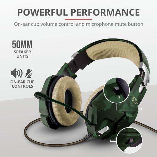 Trust gaming slušalice za PS4/PS5 GXT322 Carus maskirno zelene (20865) slika 2