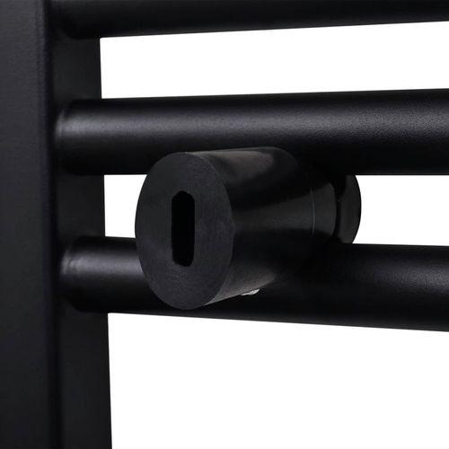 Radijator za Kupaonicu za Centralno Grijanje Zaobljeni Crni 480 x 480 mm slika 6