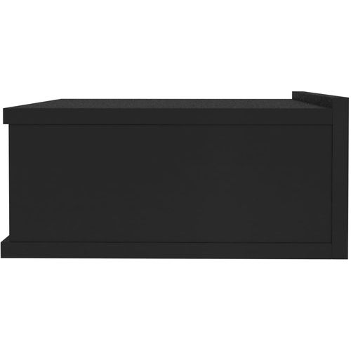Viseći noćni ormarići 2 kom crni 40 x 30 x 15 cm od iverice slika 5