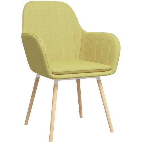 Blagovaonske stolice s naslonima za ruke 2 kom zelene tkanina slika 2