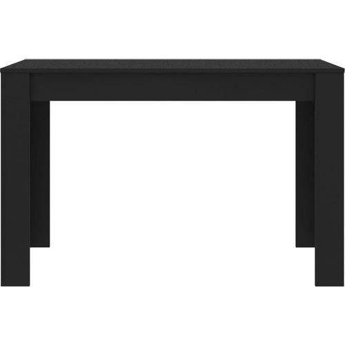 Blagovaonski stol crni 120 x 60 x 76 cm od iverice slika 8