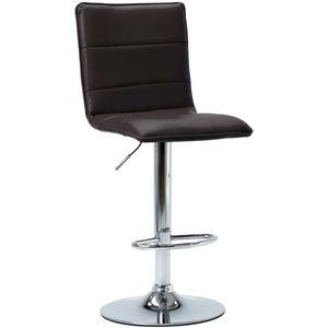 S urednim, ali bezvremenskim dizajnom, ova barska stolica sigurno će vam pružiti vrhunsku udobnost pri sjedenju. Stolica je presvučena umjetnom kožom koja se lako čisti i pruža najbolju moguću udobnost. Kromirana čelična baza osigurava visoku...