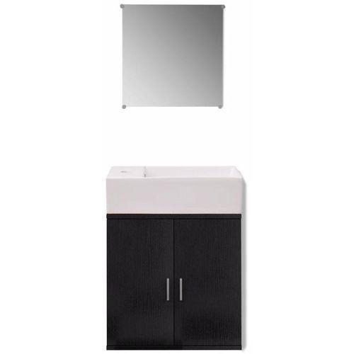 3-Dijelni Komplet Namještaja za Kupaonicu s Umivaonikom Crni  slika 9
