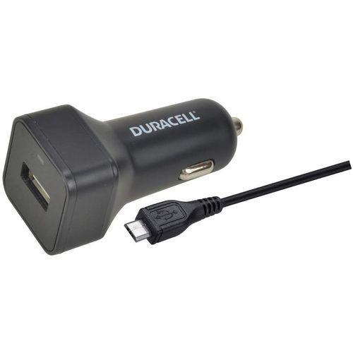 Duracell Autopunjač – Uni 1xUSB + MicroUSB cable 1m - 2.4A - Black slika 2