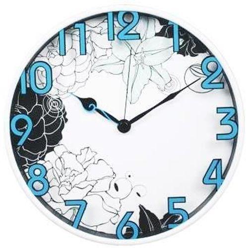 Zidni quartz sat P1107BE - plastika/staklo slika 1