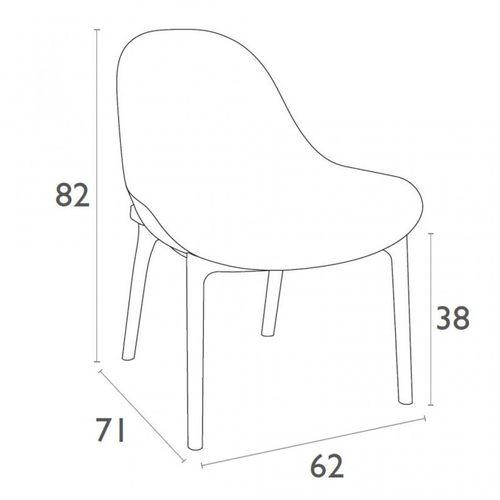 Dizajnerska fotelja — CONTRACT S slika 15