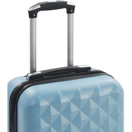 Čvrsti kovčeg s kotačima plavi ABS slika 12