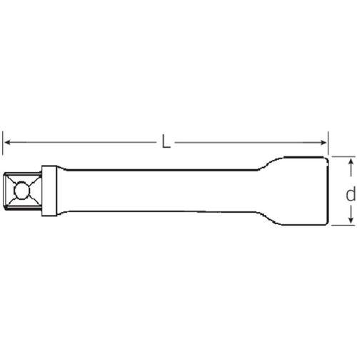 Produžetak za nasadne ključeve 75 mm Stahlwille 509/3 13010004 slika 2