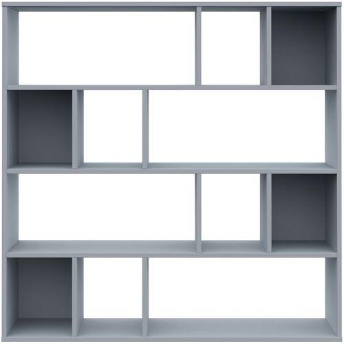 Sobna pregrada / ormarić za knjige siva 110x24x110 cm iverica slika 5