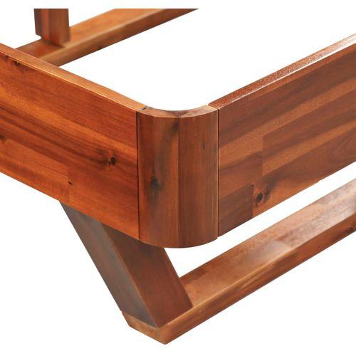 Okvir za krevet od masivnog bagremovog drva 160 x 200 cm slika 7